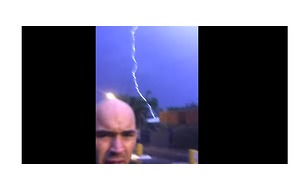 Close Call for Man in Byron Bay Lightning Strike - Video