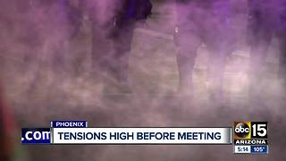 Listening sessions held with Phoenix police regarding presidential rallies - Video