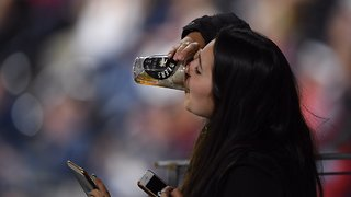 San Diego Padres Fan Catches Foul Ball in Her Beer, Then Chugs It - Video