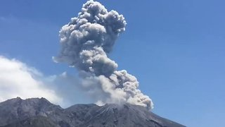 Sakurajima Volcano Ash Plumes Caught on Camera - Video