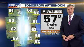 Light showers tonight and into Tuesday morning