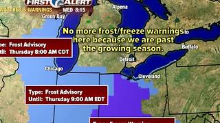 frost/freeze overnight - Video