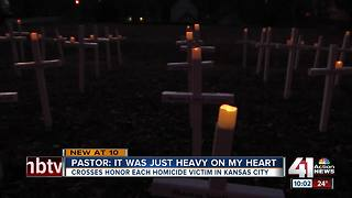 Church erects crosses to remember homicide victims in KCMO - Video