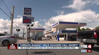 Price Gouging after Hurricane Irma
