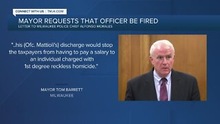 Mayor Barrett requests firing of Officer Michael Mattioli following homicide charges