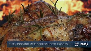 Thanksgiving meals for troops