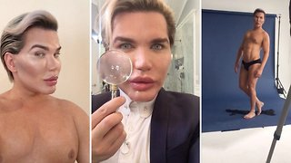 Rodrigo Alves breaks vow to quit surgery with nose reconstruction from ear to become aqua-style pop star - Video