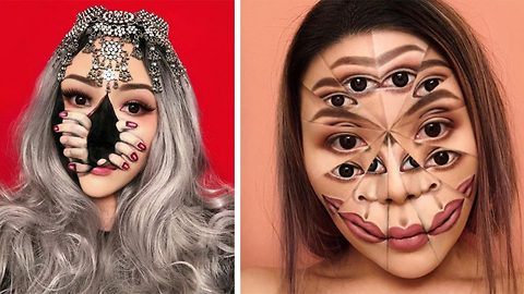 Incredible make-up artist's surreal creations will mess with your head, as she uses her face as her canvas to emulate visions from her lucid dreams
