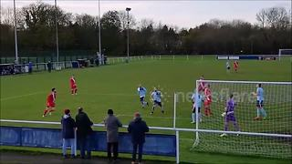 Atherstone Town player misses with header from two yards - Video