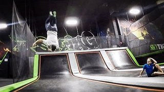 Family Trip to Trampoline Park Ends With Concussed Dad - Video