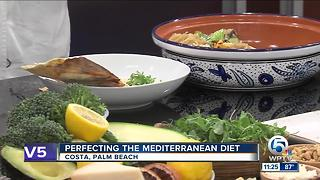 Costa restaurant chef cooks modern Mediterranean dishes - Video