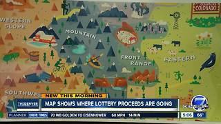 Map shows where lottery proceeds are going
