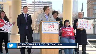 Local democrats speak out against tax policy