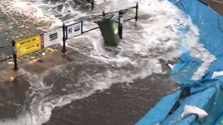 Flood Defences in Place in Cornwall Town as Weekend Storm Expected - Video