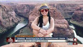Driver in deadly Thanksgiving crash has prior infractions on record - Video