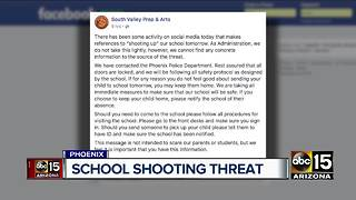 South Valley Prep and Arts receives school threat - Video