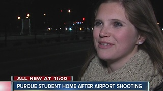 Purdue student home after being caught at Fort Lauderdale airport during shooting - Video