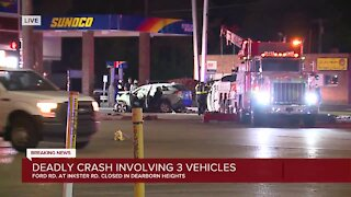 Deadly crash involving 3 vehicles in Dearborn Heights
