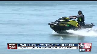 One jet-ski rider killed, another seriously injured in crash near Courtney Campbell Causeway - Video