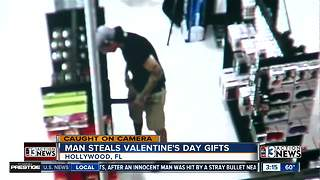 Florida man steals item from adult store - Video