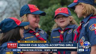 Girls can now join the Cub Scouts - Video
