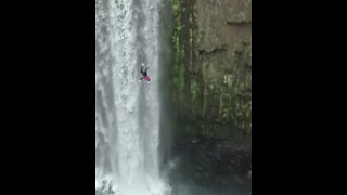 This is by far the most epic waterfall dive you will ever see