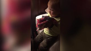Toddler Boy Gets Pads As Birthday Present