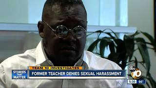 Former teacher denies sexual harassment