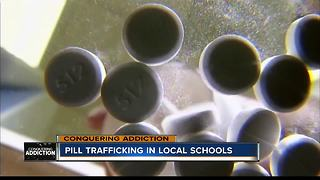Officers see pill trafficking in local high schools - Video
