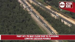 Portion of I-75 could shut down due to Santa Fe River overflow from Irma - Video