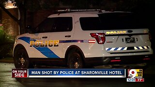 Man shot by police at Sharonville hotel