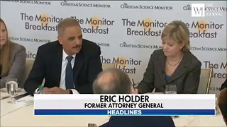 Eric Holder Drops a Hint About His Plans for Presidential Bid in 2020 - Video