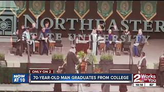 70-year-old man graduates from college - Video