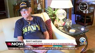 Korean War veterans flying to D.C. on honor flight - Video