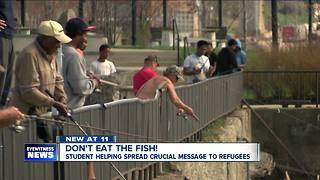 Buffalo State student looking to make fishing safer for refugees - Video