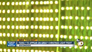 Family to appear on Great Christmas Light Fight