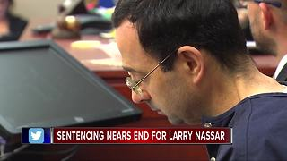 Sentencing nears end for Larry Nassar - Video