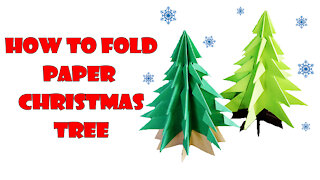 How to Make a 3D Paper Christmas Tree Easy
