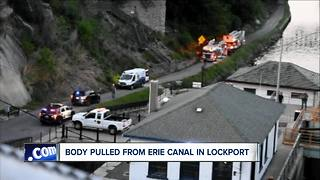 Body pulled from Erie Canal in Lockport - Video
