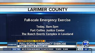 Northern Colorado emergency exercise today