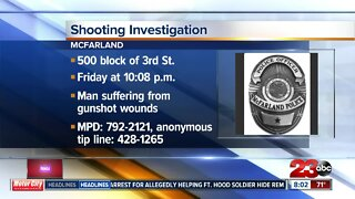 Overnight shooting in McFarland leaves one man wounded