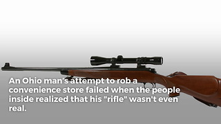 Thug Attempts Robbery With Fake Rifle - Video