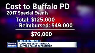 Who pays police to provide security at special events? Amherst, Buffalo looking at policies--5pm - Video