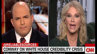 Kellyanne Conway Smacked Down Live For Lying About Trump/Russia Dossier - Video
