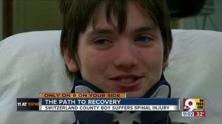 An injured 15-year-old's long road to recovery - Video