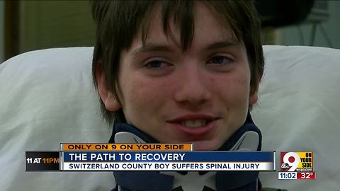 An injured 15-year-old's long road to recovery