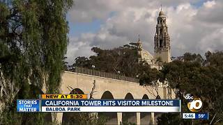 Iconic California Tower welcomes 100,000th visitor