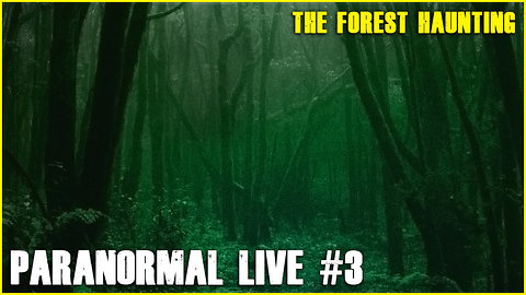 The Forest comes ALIVE | Paranormal LIVE #3