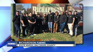 Good morning from Richardson Farms in White Marsh - Video