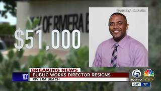 Riviera Beach Public Works Director Resigns - Video